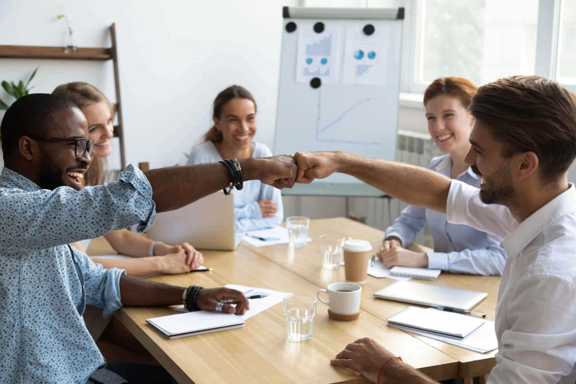 business persons creating company culture