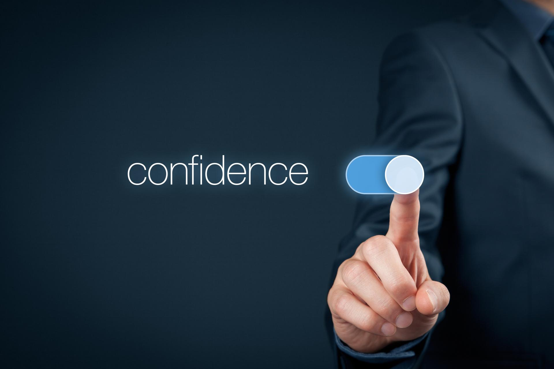 business man turning on how to gain confidence